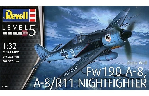 【新品】プラモデル 1/32 フォッケウルフ Fw190A-8 夜間戦闘機 [03926]