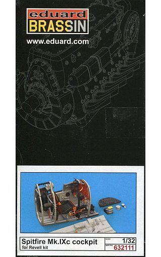 【新品】プラモデル 1/32 スピットファイアMk.IXcコックピットセット レベル用 「BRASSINシリーズ」 ディティールアップパーツ [EDU632111]