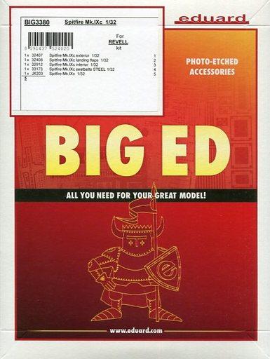 【新品】プラモデル 1/32 スピットファイアMk.IXc パーツセット レベル用 「BIG EDシリーズ」 エッチングパーツ [EDUBIG3380]