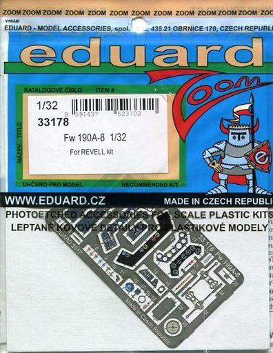 【新品】プラモデル 1/32 Fw190A-8 レベル用 「ズームシリーズ」 エッチングパーツ [EDU33178]