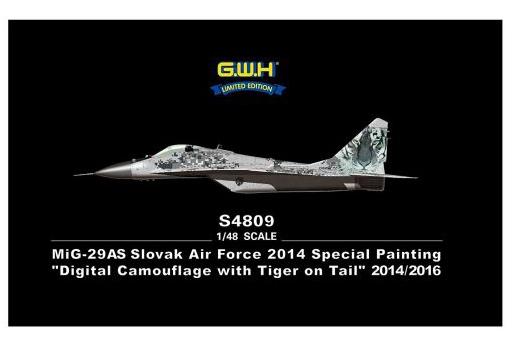 【新品】プラモデル 1/48 MiG-29AS スロバキア空軍 デジタル迷彩 [S4809]