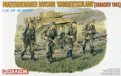 【新品】プラモデル 1/35 WW.II ドイツ軍 装甲擲弾兵 グロースドイッツェラント師団 カラチェフ 1943 [DR6124]