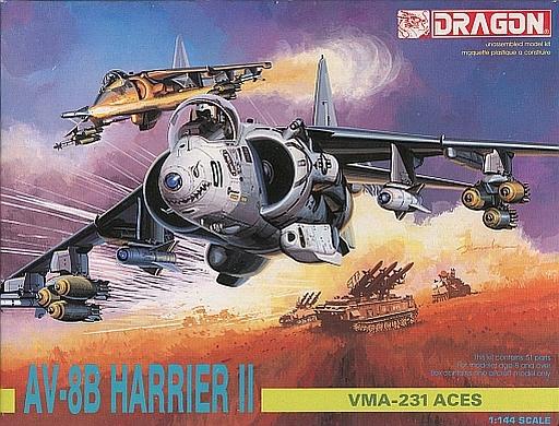 【中古】プラモデル 1/144 AV-8B HARRIER II VMA-231 ACES 「AIR SUPERIORITY SERIES」 [9907]