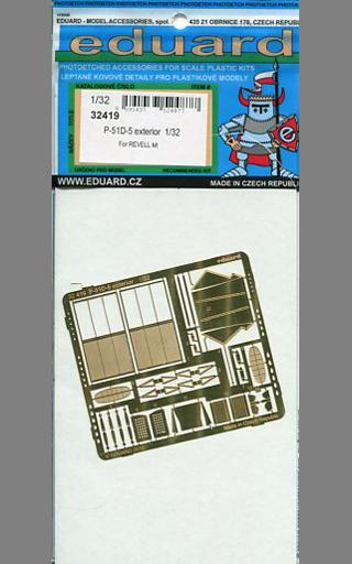 【新品】プラモデル 1/32 P-51D 外装 レベル用 エッチングパーツ [EDU32419]