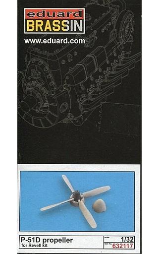 【新品】プラモデル 1/32 P-51D プロペラ レベル用 「BRASSINシリーズ」 ディティールアップパーツ [EDU632117]