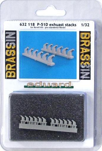 【新品】プラモデル 1/32 P-51D 排気管 レベル用 「BRASSINシリーズ」 ディティールアップパーツ [EDU632118]