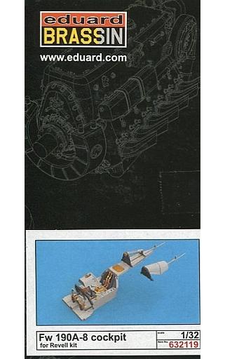 【新品】プラモデル 1/32 Fw190A-8 コックピットセット レベル用 「BRASSINシリーズ」 ディティールアップパーツ [EDU632119]