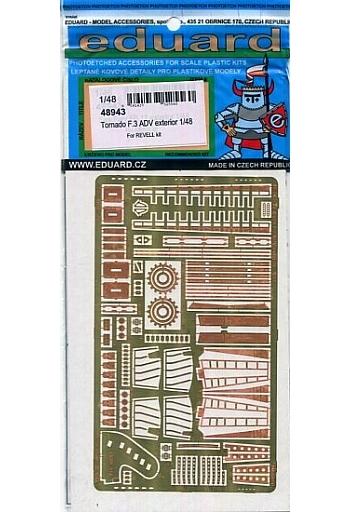 【新品】プラモデル 1/48 トーネードF.3 ADV 外装 レベル用 エッチングパーツ [EDU48943]