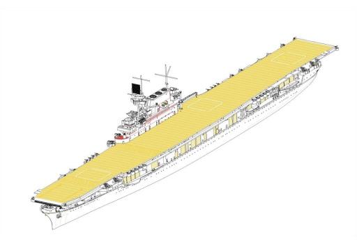 【新品】プラモデル 1/700 アメリカ海軍 航空母艦 CV-6 エンタープライズ [06708]