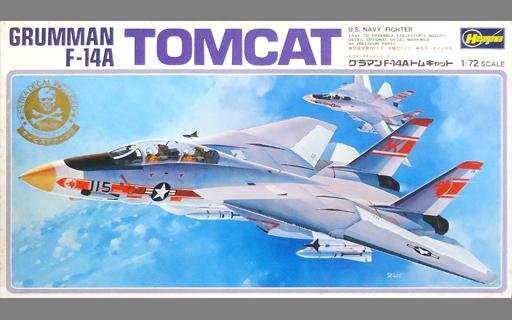 【中古】プラモデル 1/72 グラマン F-14A トムキャット サービスデカール付き 「キングサイズシリーズ No.12」 [K012]