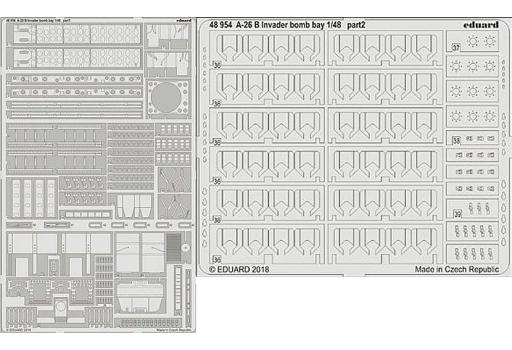 【新品】プラモデル 1/48 A-26B 爆弾槽 レベル用 エッチングパーツ [EDU48954]