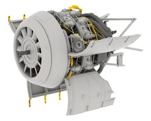 【新品】プラモデル 1/32 Fw190A-8 エンジン レベル用 「BRASSINシリーズ」 ディティールアップパーツ [EDU632123]
