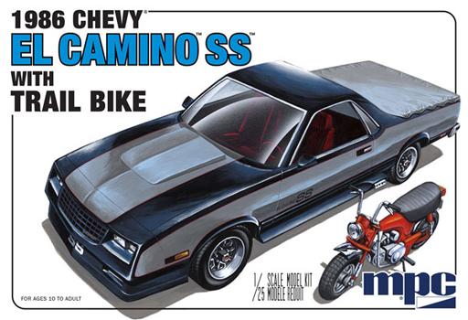 【予約】プラモデル 1/25 1986 シェビー エルカミーノSS ダートバイク付き [MPC888]