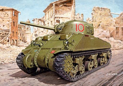 【予約】プラモデル 1/72 WW.II イギリス軍M4A4 シャーマン ロイヤル・ハッサーズ [DR7572]