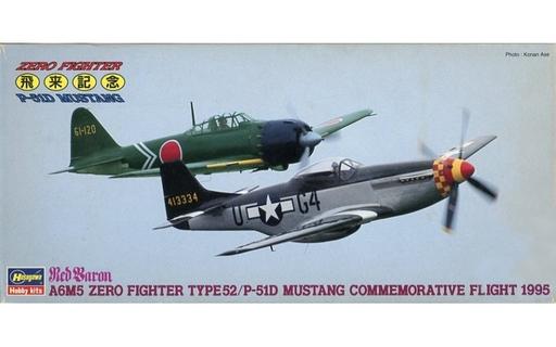 【中古】プラモデル 1/72 零戦52型 & P-51D ムスタング '飛来記念コンボ'(2機セット) 「SP153」 [51653]
