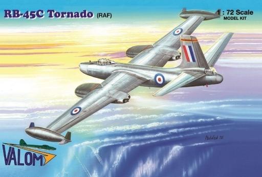 """【新品】プラモデル 1/72 ノースアメリカン RB-45C トーネード """"RAF仕様"""" [VAL72123]"""