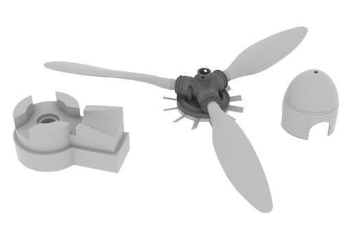 【新品】プラモデル 1/32 Fw190A-8 プロペラ レベル用 「BRASSINシリーズ」 ディティールアップパーツ [EDU632124]