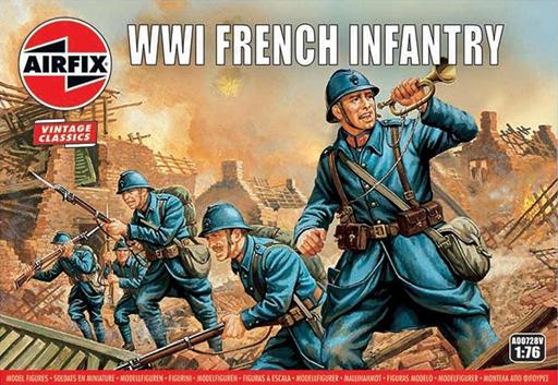 1/76 WW.I フランス軍 歩兵 「AIRFIX VINTAGE CLASSICS」 [AIRA00728V]