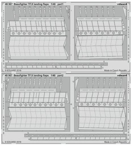 【予約】プラモデル 1/48 ブリストル・ボーファイター TF.X ランディングフラップ レベル用 エッチングパーツ [EDU48967]