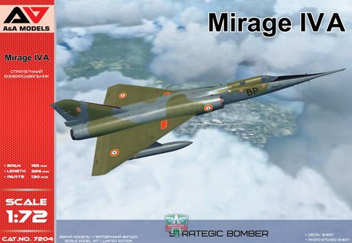 1/72 仏・ダッソー・ミラージュIVA超音速爆撃機(A&Amodelブランド) [MVA72004]