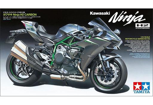 1/12 カワサキ Ninja H2 CARBON 「オートバイシリーズ No.136」 ディスプレイモデル [14136]
