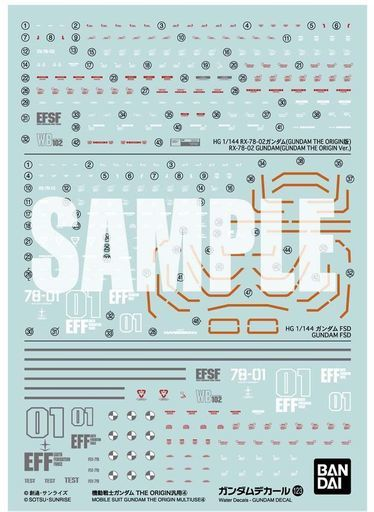 BANDAI SPIRITS 新品 プラモデル ガンダムデカール No.123 1/144 HG 機動戦士ガンダム THE ORIGIN汎用 (1) 「機動戦士ガンダム THE ORIGIN」 [2578992]
