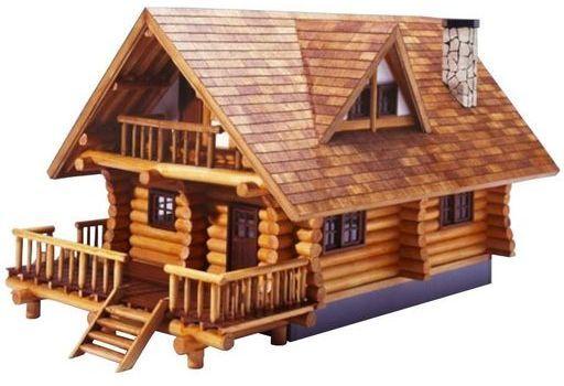 1/24 木製模型 ログハウス
