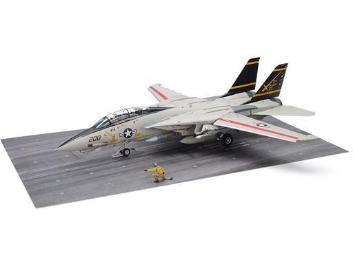 1/48 傑作機シリーズ No.122 グラマン F-14A トムキャット (後期型) 発艦セット 61122