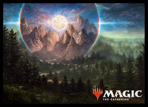 マジック カードスリーブ 基本セット2019 高山の月