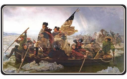 """ウルトラプロ 新品 サプライ Fine Art Series 3 Playmats (Standard Size) 名画シリーズ3スタンダードサイズプレイマット """"Washington Crossing the Delaware"""" デラウェア川を渡るワシントン"""