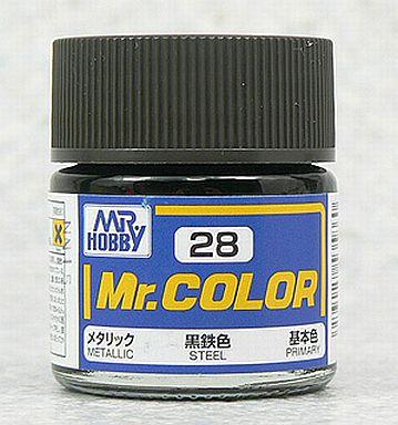 【新品】塗料・工具 塗料 Mr.カラー 黒鉄色[C28]