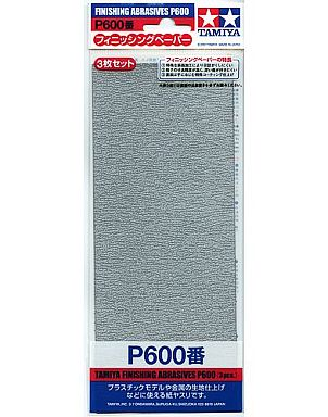 タミヤ 新品 塗料・工具 フィニッシングペーパー P600番(3枚セット)[87055]