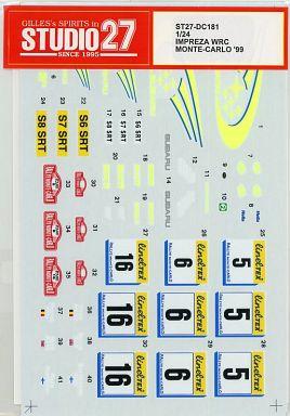 1/24 IMPREZA WRC MONTE-CARLO '99 デカール [ST27-DC181]