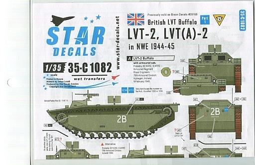 【新品】塗料・工具 1/35 WWII英 北西ヨーロッパのウォーターバッファロー #1 LVT-2.LVT(A)-2 デカール [SD35-C1082]