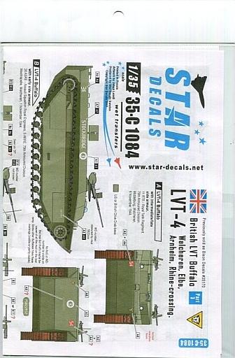 【新品】塗料・工具 1/35 WWII英 北西ヨーロッパのウォーターバッファロー #3 LVT-4 デカール [SD35-C1084]