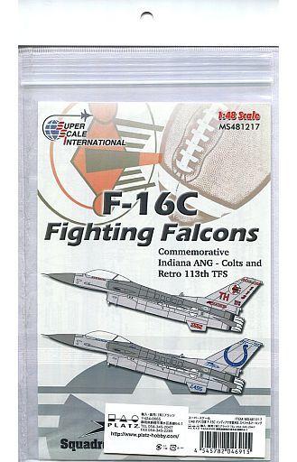 【新品】塗料・工具 1/48 アメリカ軍 F-16C インディアナ空軍州兵 スペシャルマーキング デカール [MS481217]
