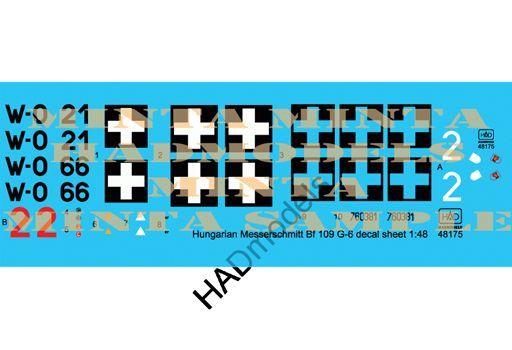 【予約】塗料・工具 1/48 Bf109G-6 ハンガリー空軍デカール(3種ハンガリー空軍/国籍マーク1機分) [HAD48175]