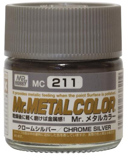 GSIクレオス 新品 塗料・スプレー 塗料 Mr.メタルカラー クロ-ムシルバ- [MC211]