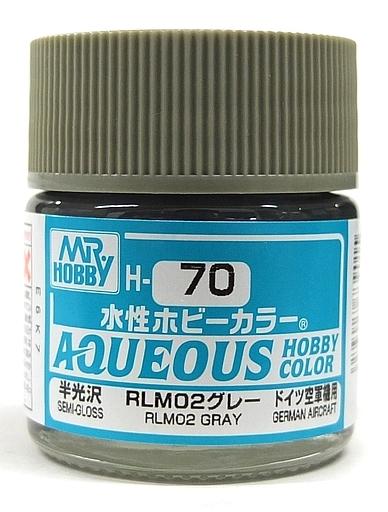 水性ホビーカラー RLM02グレー 10ml H70