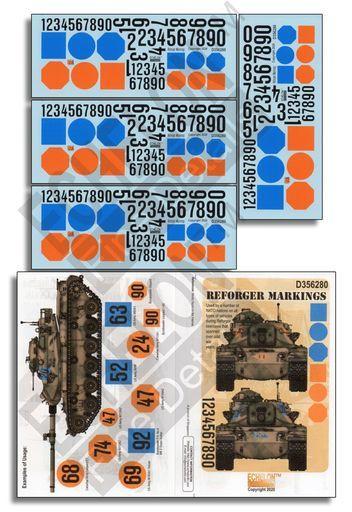 Echelon Fine Details(エシェロン ファイン ディティール) 新品 塗料・工具 1/35 現用 米 NATO軍 リフォージャー演習用マーキングセット デカール [D356280]