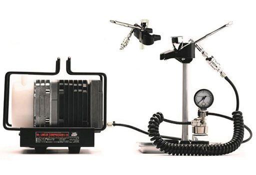 GSIクレオス 新品 塗料・工具 Mr.リニアコンプレッサーL10/レギュレーター/プラチナセット [PS322]