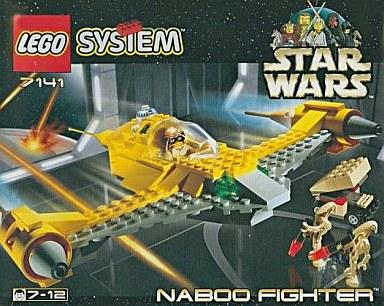 【中古】おもちゃ LEGO NABOO FIGHTER-ナブー・ファイター- 「レゴ スター・ウォーズ」 7141