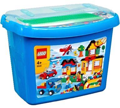 【中古】おもちゃ LEGO 基本セット・青のコンテナスーパーデラックス 「レゴ」 5508