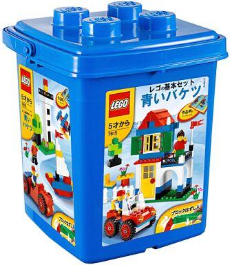【中古】おもちゃ LEGO 青いバケツ 「レゴ 基本セット」 7615
