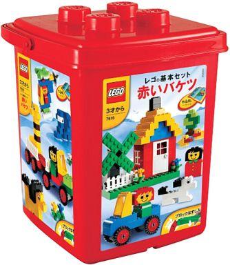 【中古】おもちゃ LEGO 赤いバケツ 「レゴ 基本セット」 7616