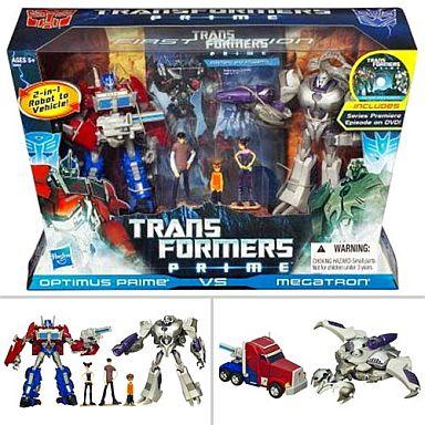 【新品】おもちゃ オプティマスプライムvsメガトロン 「トランスフォーマープライム」 エンターテイメントパック ファースト