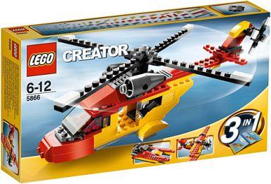 【中古】おもちゃ LEGO レスキューヘリ 「レゴ クリエイター」 5866