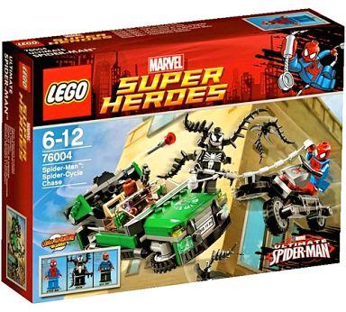 【中古】おもちゃ LEGO スパイダーマン:スパイダーサイクル・チェイス 「レゴ MARVEL スーパーヒーローズ」 76004