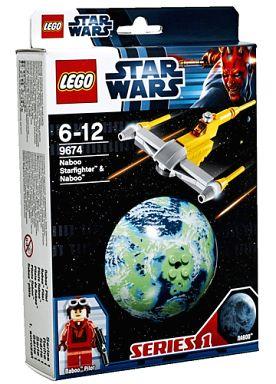 【中古】おもちゃ LEGO ナブー・スターファイターと惑星ナブー 「レゴ スター・ウォーズ」 9674