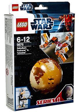 【中古】おもちゃ LEGO セブルバのポッドレーサーと惑星タトゥイーン 「レゴ スター・ウォーズ」 9675